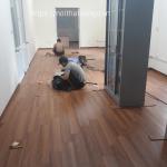 Sàn gỗ redsun R93 tại văn phòng phố Hồng Mai
